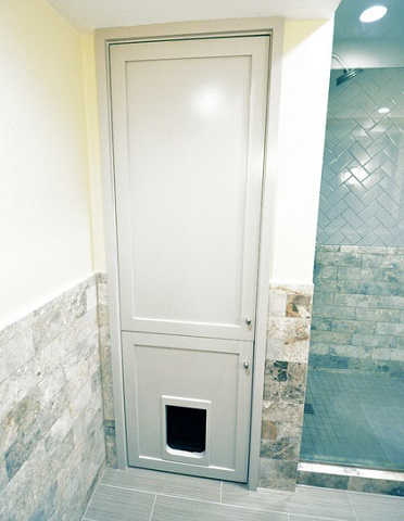 Clever Ways To Conceal You Cats Litter Box - Litter box in bathroom for bathroom decor ideas