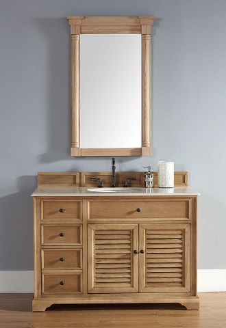 Unfinished Solid Wood Bathroom Vanities From James Martin Furniture - All wood bathroom vanities