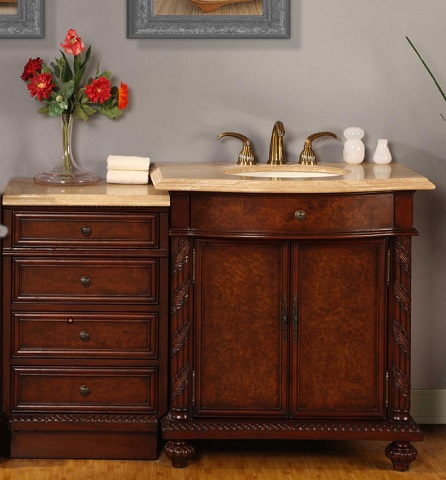 Stain Bathroom Cabinets Darker bathroom vanities with offset sinks: a simple way to avoid a big