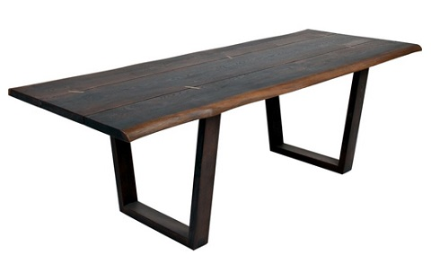 Kava Dining Table With Live Edge In Seared Oak HSGR135 from Nuevo Living
