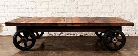 V33 Coffeecart HGDA118 in Reclaimed Wood from Nuevo Living