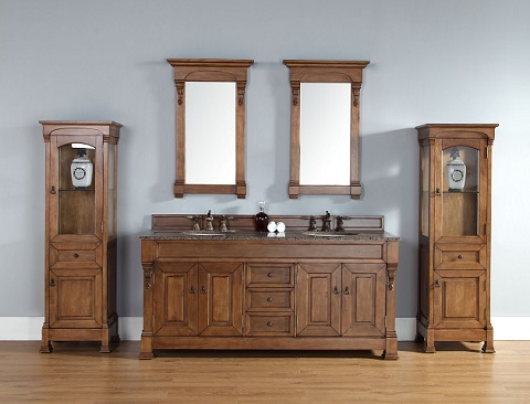 Brookfield Linen Cabinet in Country Oak 147-114-5076 from James Martin Furniture