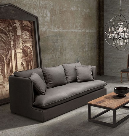 Pacific Heights Sofa in Charcoal Gray 98093 from Zuo Modern