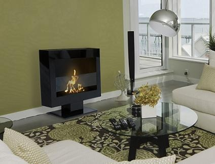 Tribeca II Floor Standing Fireplace 90201 from Anywhere Fireplace