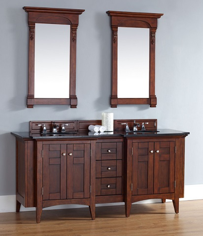 "Urban North Hamption 72"" Double Vanity 900-V72-WCH-ABK from James Martin"