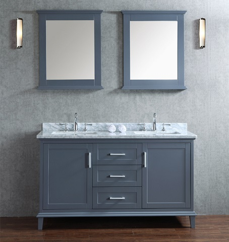 Seacliff Nantucket 60 Single Sink Bathroom Vanity Set Scnan60swg From Ariel