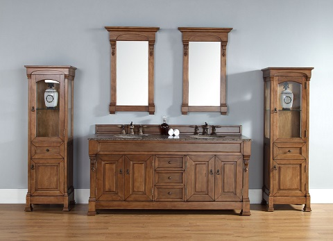 "Brookfield 72"" Double Vanity Set 147-114-5771 in Country Oak from James Martin Furniture"