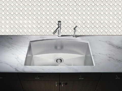 Kimball Pattern Super White Glass Mosaic Tile SSL-1107 from Soci