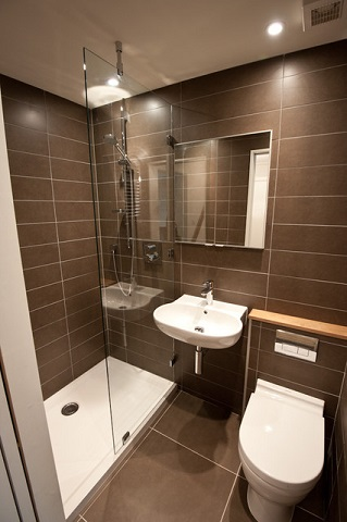 wall mounted sinks are great for small bathrooms since they have a much smaller footprint