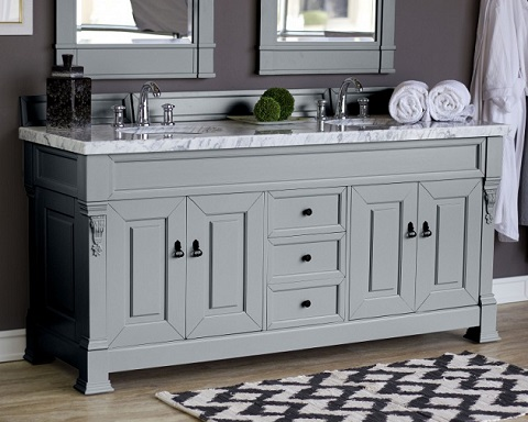 "Brookfield 72"" Double Bathroom Vanity Cabinet In Urban Gray 147-114-5791 from James Martin Furniture"