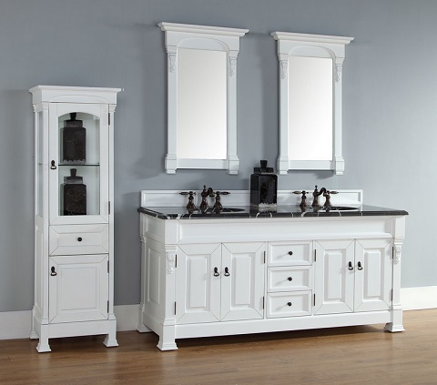 "Brookfield 72"" Double Bathroom Vanity In Cottage White 147-114-5741 from James Martin Furniture"