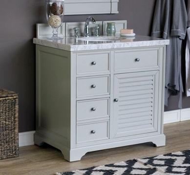 "Savannah 36"" Single Bathroom Vanity Cabinet 238-104-V36-UGR in Urban Gray from James Martin Furniture"
