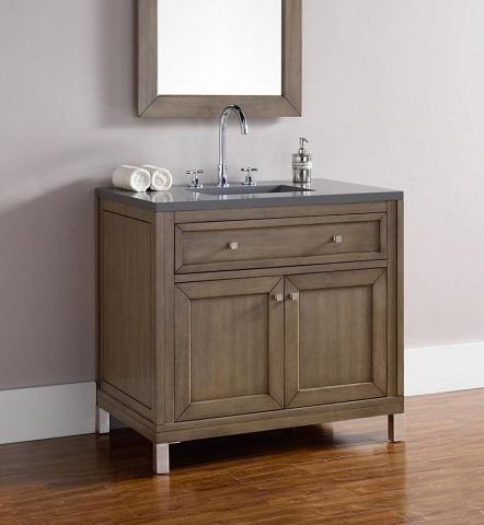 "Chicago 36"" Single Bathroom Vanity 305-v36-www from James Martin Furniture"