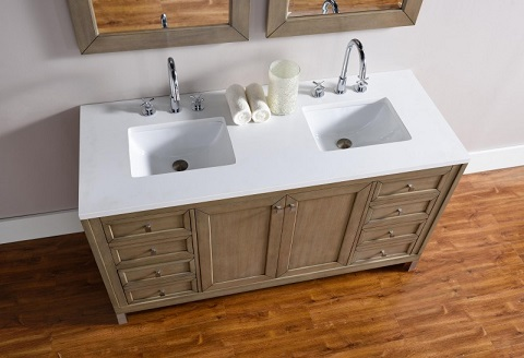 """Chicago 60"""" Double Bathroom Vanity 305-v60d-www from James Martin Furniture"""