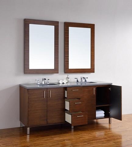 "Metropolitain 72"" Double Bathroom Vanity 850-v72-awt from James Martin Furniture"