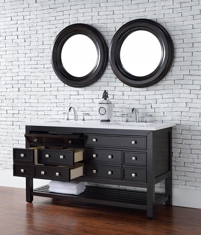 """Vancouver 60"""" Double Bathroom Vanity with Drawers 505-v60d-ceo from James Martin Furniture"""