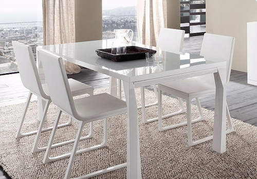 PRISMA GREY DINING TABLE WITH EXTENSIONS, R348203000164 by Rossetto Furniture