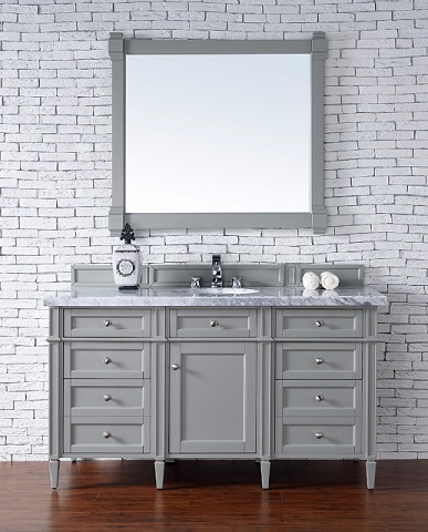 "Brittany 60"" Single Bathroom Vanity Cabinet in Urban Gray 650-V60S-UGR from James Martin Furniture"