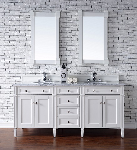 brittany 72 double bathroom vanity cabinet in cottage white 650 v72 cwh from - Shaker Bathroom 2016