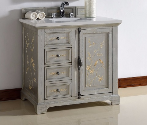 "Providence 36"" Hand Painted Vanity 238-105-V36-HP01 from James Martin Furniture"