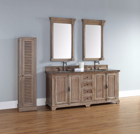 "Providence 72"" Double Bathroom Vanity 238-105-5711 in Driftwood from James Martin Furniture"
