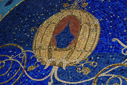 Cinderella's Pumpkin Coach Mosaic