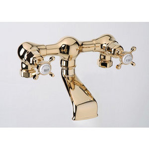 Gold Exposed Faucet from The Perrin & Rowe Collection