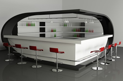 Extravagent Accessories for a Trendy Bar at Home