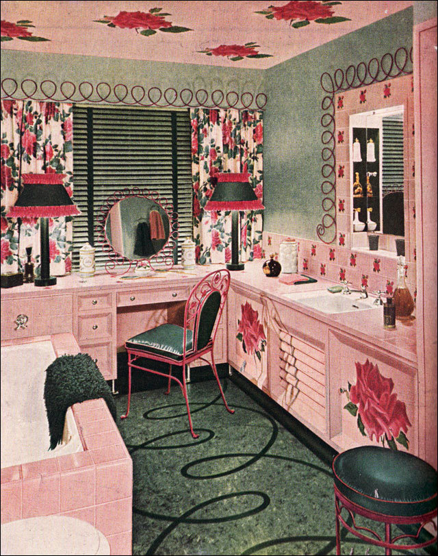 1948 Floral Bathroom Design
