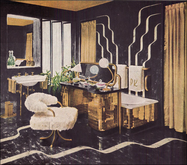 Before the bomb there was the bathroom vintage bathroom for 1940s decoration