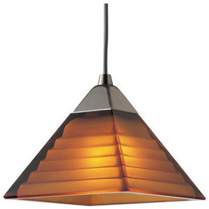 Amber Pyramid Track Light from Progress Lighting