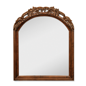 Vanity Mirror in Walnut Finish