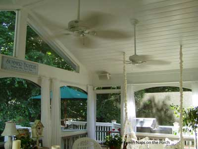 Outdoor ceiling fans will blow away a hot day ceiling fans on a porch aloadofball Image collections