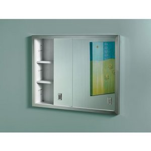 Broan Slider, Stainless Frame Medicine Cabinet