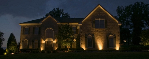home lighting techniques. Just A Few Up Lights Are More Striking Than Inviting, And Give Your Home Lighting Techniques