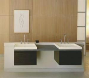 kohler purist double wall mount vanity