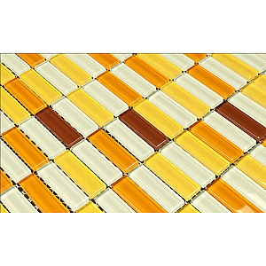 Yellow Mosaic Tiles from Martini Mosaic