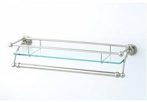 Wall Mounted Glass Shelf with Towel Rack