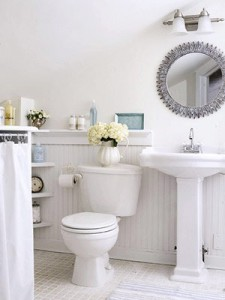 Adding A Few Victorian Style Accessories Gives Your Bathroom A Great Rustic Feel