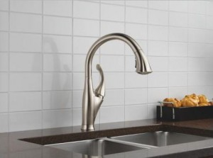 Delta 9192-DST Single Handle Kitchen Faucet with Multi-Flow Pull-Out Spray, Diamond Seal Technology and Magnatite Docking from the Addison Collection