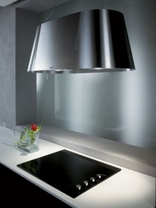 Elica 36 Inch Ceiling Mounted Evolution Plus Air Cleansing Hood from the Twin Collection