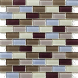 Glass Mosaic Tile Essen Berry Wine