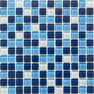 Glass Mosaic Tile Piazza Mountain Lake