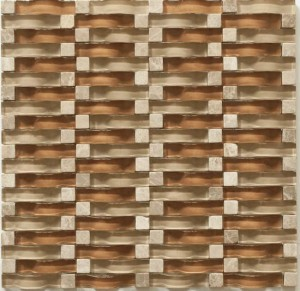Glass Mosaic Tile Vento Chestnut Beach