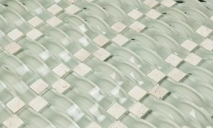 Glass Mosaic Tile Vento Mystic Sea