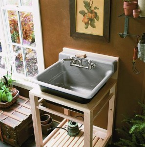 Kohler Bayview Wood Stand Utility Sink