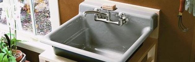 Ah, The Laundry Sink. That Big, Ugly Plastic Tub On Legs That, If You Have  An Older Home, Is Probably Lurking Somewhere Next To Your Washer And Dryer,  ...
