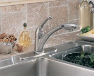 Signature Single Handle Water-Efficient Pull-Out Kitchen Faucet