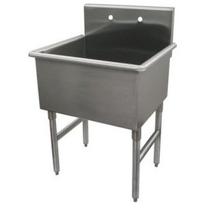 Whitehaus Noah Single Basin 27-Inch Free Standing Utility Sink