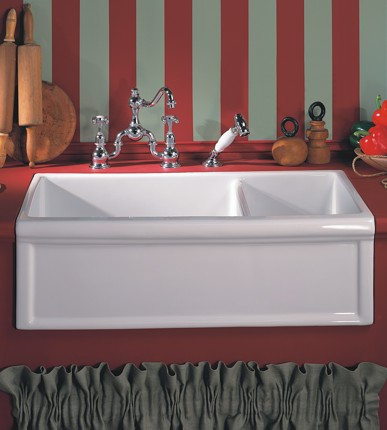 A Double Farmhouse Sink Can Help You Save Water By Making Better Use Of The Available Space